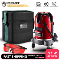DEKO LL57 5 Lines 6 Points 360 Degrees Rotary 635nm Indoor/Outdoor Mode Receiver Vertical Horizontal Laser Level Oxford Bag