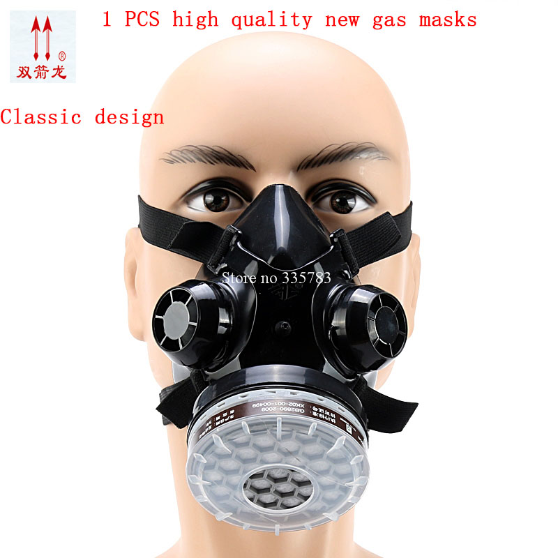 New Industrial Dust Gas Mask Respirator Chemical Gas Filter Half Face Mask For Painting Organic Vapours Work Safety high quality respirator gas mask provide silica gel gray protective mask paint pesticides industrial safety mask