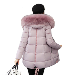 New arrival 2018 High Quality winter jacket women plus size big fur collar thick women coat warm female medium-long parka