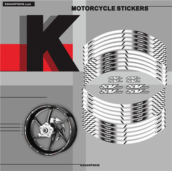 Motorcycle tyre Stickers inner wheel reflective decoration decals for SUZUKI SV650 sv 650