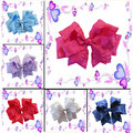 """Free shipping 14 pcs BLESSING Good Girl Hair Accessories Ruffle Ribbon 5"""" Double Bow Clip 27 No."""