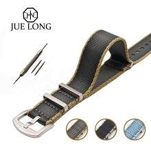 20 22 мм хаки/серый натовский ремешок для армейские спортивные часы нейлоновый ремешок для часов James Bond Watch