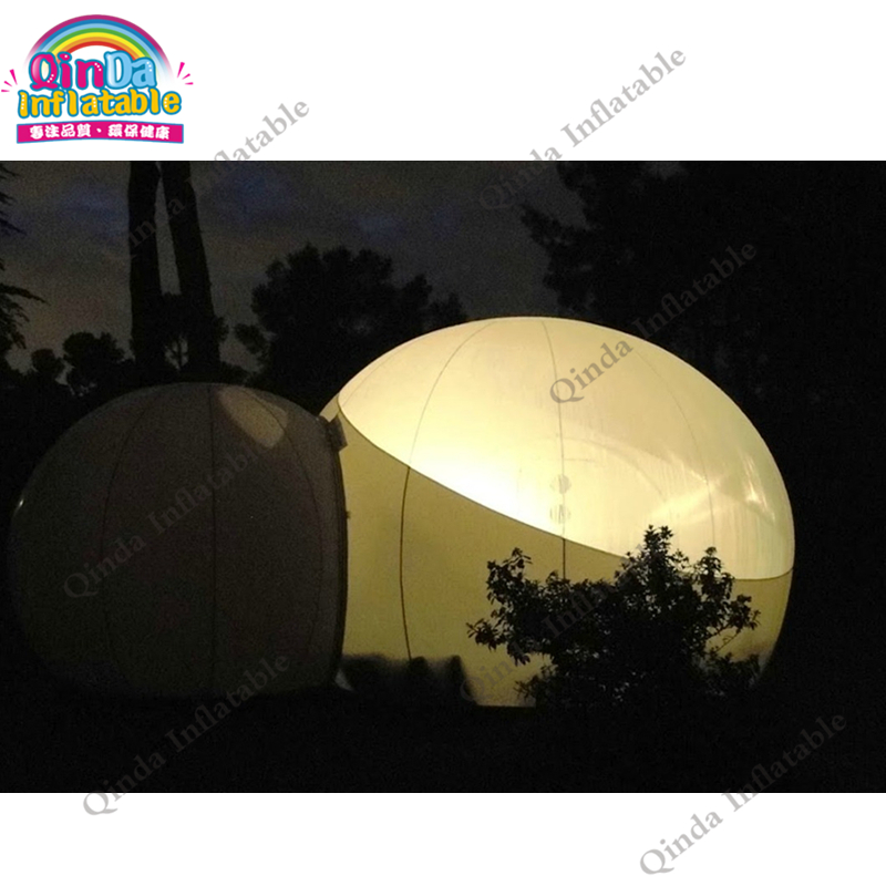 Double Room Transparent inflatable lawn bubble tent, inflatable bubble tree camping beach tent for sale outdoor double layer 10 14 persons camping holiday arbor tent sun canopy canopy tent