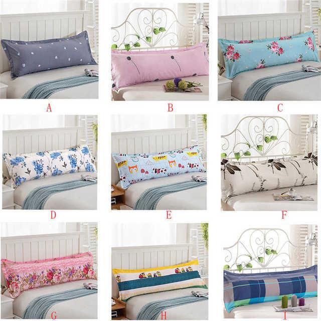 48*120 Comfy Home  Print Pillowcase Long Body Double Pillow Cover Protector Simple No Fade 100%Cotton Pillowcase