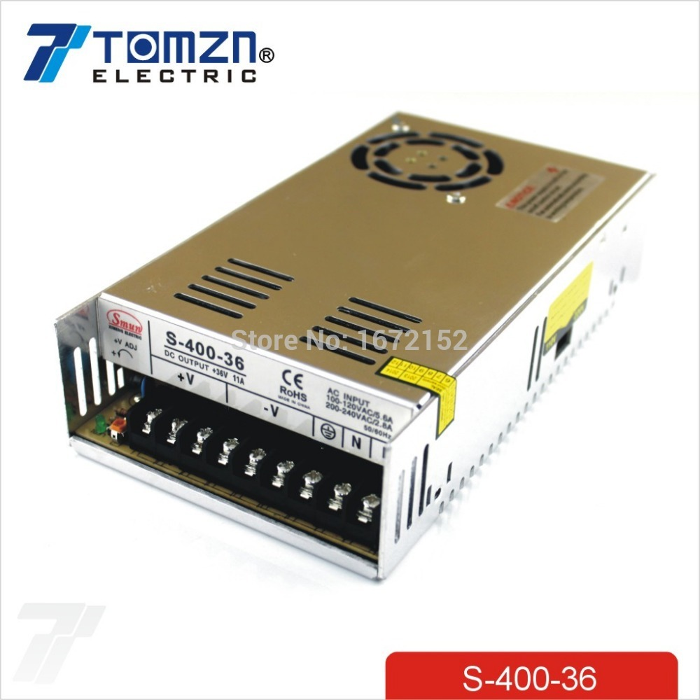 400W 36V 11A Single Output Switching power supply for CCTV camera LED Strip light AC to DC SMPS ac dc 36v ups power supply 36v 350w switch power supply transformer led driver for led strip light cctv camera webcam