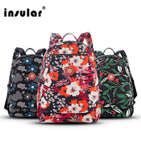Insular Mummy Diaper Bags Baby Kids Stroller Bag Mother Mom Nappy Bag Bolsa Maternal Backpack Nappy Changing Diaper Backpack