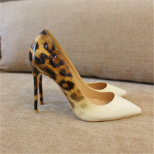 Free shipping fashion women Pumps lady white patent leather leopard Pointy toe high heels shoes size33-43 12cm 10cm 8cm Stiletto free shipping fashion women pumps sexy lady black patent leather pointy toe high heels shoes size33 43 12cm 10cm 8cm party shoes