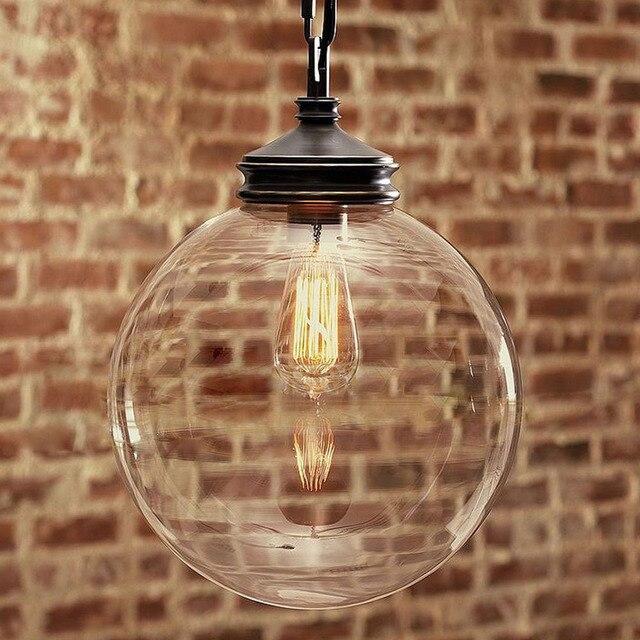 Fabulous Glazen Bol Hanglamp Clear Lamp Lampenkap Vintage Verlichting @BT68