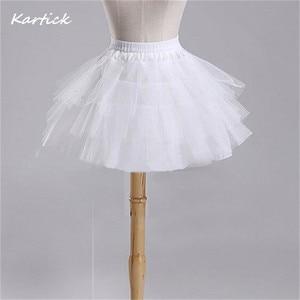 Image 2 - חדש לגמרי ילדי תחתוניות עבור פורמליות/פרח ילדה שמלת 3 שכבות Hoopless קצר קרינולינה קטן בנות/ילדים/ילד תחתוניות