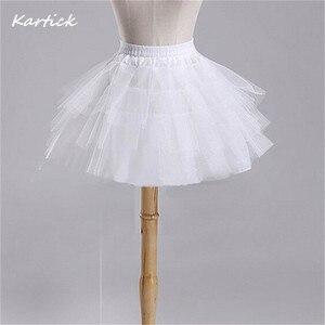 Image 2 - 真新しい子供ペチコートフォーマル/フラワーガールのドレス 3 層 hoopless ショートクリノリン女の子/子供/子アンダー