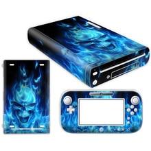 Capa de vinil Do Decalque Para Adesivo de Pele para Nintendo WiiU WiiU Console & Controlador Skins Para Acessórios Nintendo