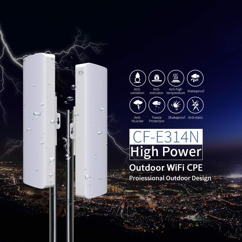 2pcs Comfast CF-E314N 300M Wireless Access Point Outdoor AP WIFI Router Repeater 2* 14dBi Antenna WI FI Extender 48v PoE router tp link wifi router wdr6500 gigabit wi fi repeater 1300mbs 11ac dual band wireless 2 4ghz 5ghz 802 11ac