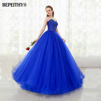 BEPEITHY Sweetheart Beaded Ball Gown Prom Dresses Floor Length Vestido Longo Vintage Evening Dress Party Elegant 2019 - DISCOUNT ITEM  37% OFF All Category