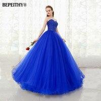 BEPEITHY Sweetheart Beaded Ball Gown Prom Dresses Floor Length Vestido Longo Vintage Evening Dress Party Elegant