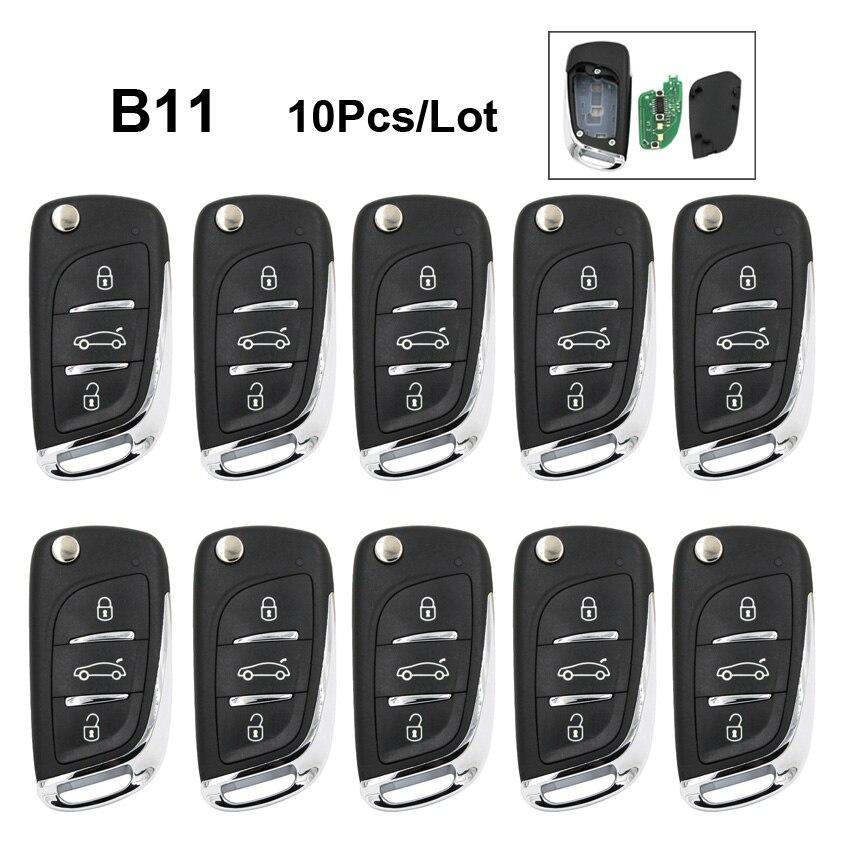 10Pcs Lot B11 3 Button Universal Remote Control Car Key for KD900 KD900 URG200 KD200 Mini