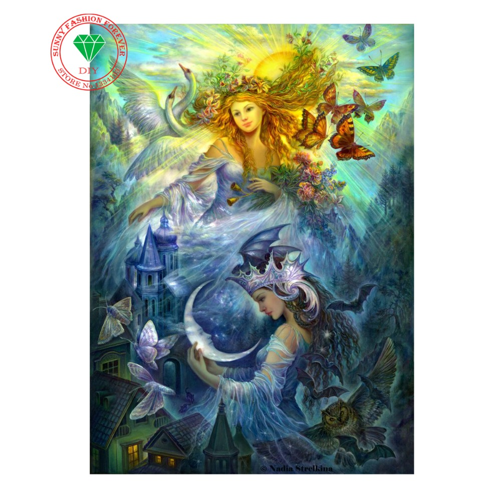 Hobby Needlework DIY Diamond Painting Cross Stitch 3d Diamond Embroidery Landscape Fairy Hobbies And Crafts Patchwork Accessorie