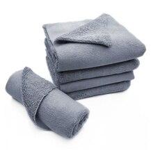 1Pcs 40*40cm 380GSM Edgeless Microfiber Cloth No Edge Professional Auto Detailing Towel For Polishing Buffing Finishes Car Wash