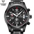 Business watch Luxury Brand Black Army Sports Multifunction Calendar Men's Shockproof Waterproof Stainless Steel Watch Men Clock