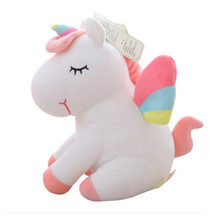 Cute unicorn doll Plush Cushion Ins Small horse bedroom baby room decoration Girl Kids gift