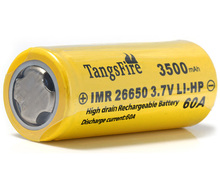 New TangsFire 1pcs of Flat Top IMR 26650 3500mAh 60A 3.7V Rechargeable LI-HP Battery стоимость