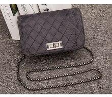 Велюр сумка Для женщин мешок роскошные сумки Для женщин кошелек и сцепления дизайнерский бренд дамы цепи бархат плеча Курьерские сумки(China)
