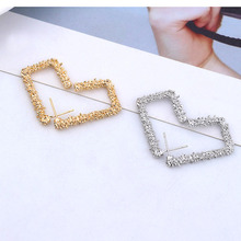 2019 new retro metal earrings womens gold and silver geometric statement hanging fashion jewelry
