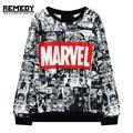 Moletom Marvel Tracksuit Harajuku Dance Suit Sweatshirt O neck Black Sweatwear for Women EXO Kpop BTS Adventure Time Hoodies