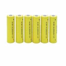 8 PCS/lo não qualidade Superior NI-MH Baterias Recarregáveis AA 1.2 V 2800 mAh NIMH Bateria para 1.2 v Rato de brinquedo Lanterna Da Bateria