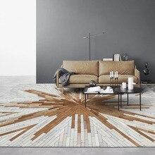 Роскошный ковёр из воловьей кожи в американском стиле, ковер из натурального меха коровы для украшения гостиной, офиса