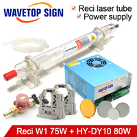 Reci Co2 Laser Tube Set W1 75W Diameter 80mm Length 1050mm for Co2 Laser Cutting & Engraving Machine