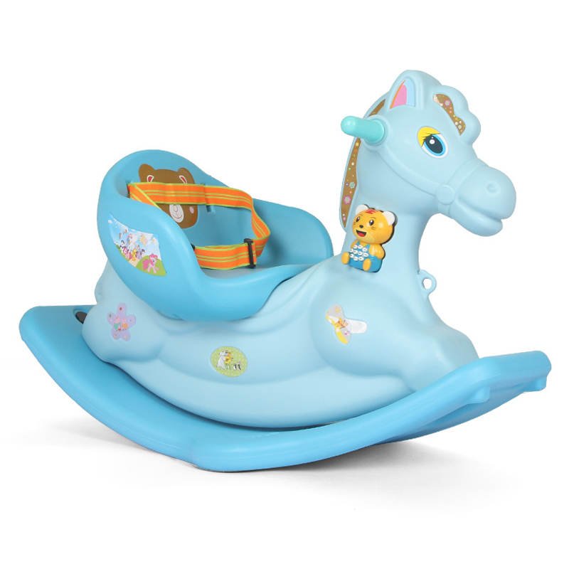Children Rocking Horse Thickening Plastic Ride on Animal Toys Rocking Horse with Safety Harness Seat Music Baby Rocking ChairChildren Rocking Horse Thickening Plastic Ride on Animal Toys Rocking Horse with Safety Harness Seat Music Baby Rocking Chair