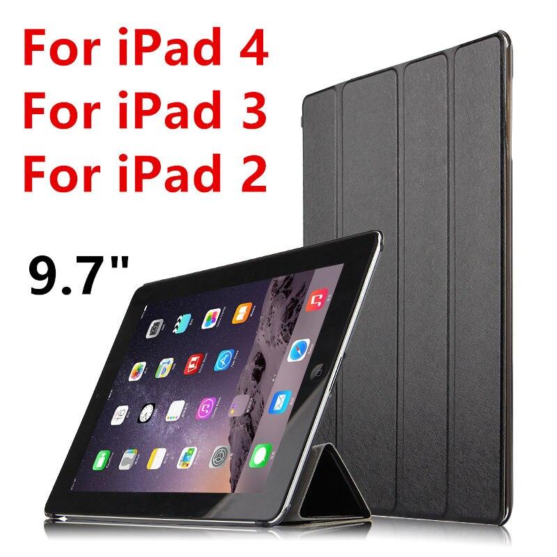 Case For Apple IPad 4 IPad3 IPad2 Protective Smart Cover Protector PU Leather Tablet For IPad4 IPad 3 2 Sleeve Covers 9.7 Inch