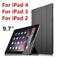 Чехол для Apple iPad 4 iPad3 iPad2  защитный смарт-чехол  защитная пленка из ПУ кожи для планшета iPad 4 iPad 3 2  чехлы 9 7 дюйма