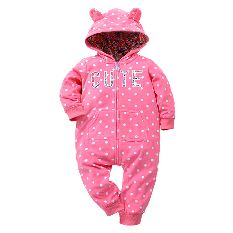 Newborn Baby Rompers Cotton Padded Thicken Warm Girls Clothing Set Winter Cartoon Toddler Hooded Clothes Unisex Infant Jumpsuits puseky 2017 infant romper baby boys girls jumpsuit newborn bebe clothing hooded toddler baby clothes cute panda romper costumes