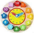 Reloj juguetes educativos 1 2 3---6 niño hembra-varón del niño 4