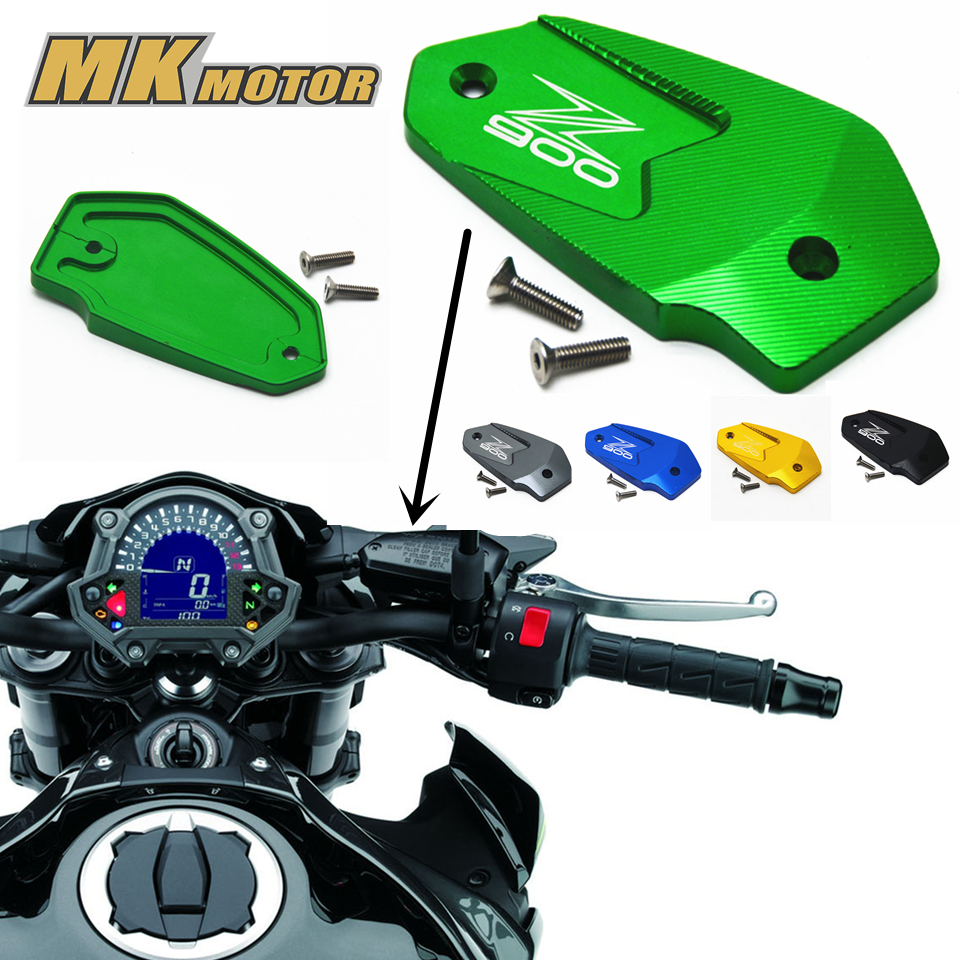 NEY Motorcycle font b Accessories b font Motorbike Brake Fluid Tank Cap Cover For Kawasaki Z900