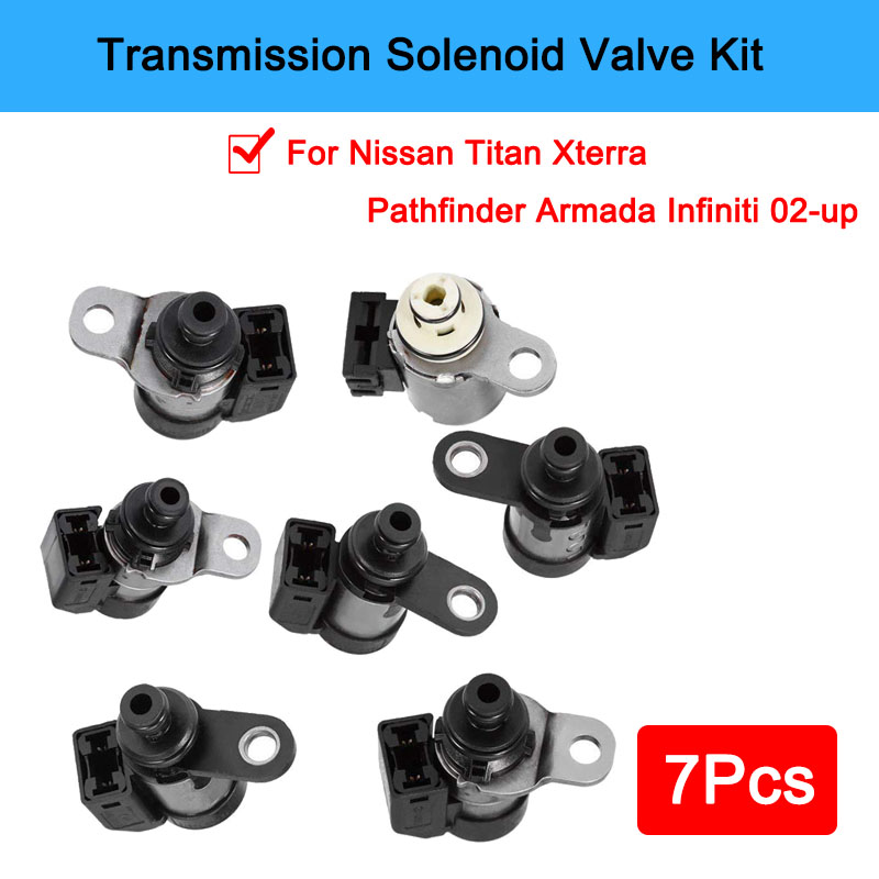 Shift Trans Solenoid Kit Of 7 Pcs RE5R05A Transmission For Nissan Pathfinder 2002-UP(China)