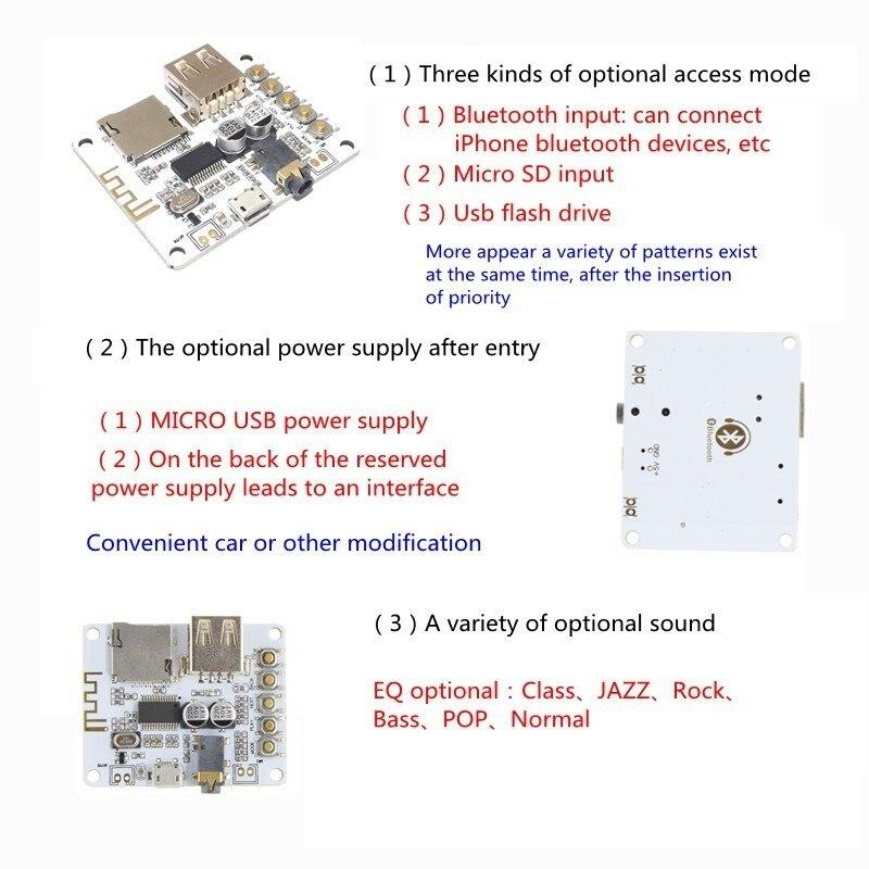 Bluetooth Audio Receiver Module USB TF//SD Card Decoding Board Preamp Output DC5V