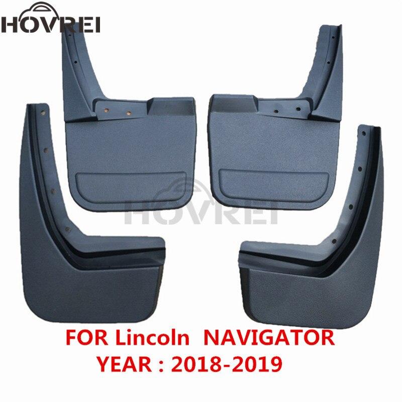 Set Molded Car Front Rear Mud Flaps Mudguards for Lincoln Navigator 2018 2019 Mudflaps Splash Guards