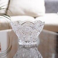 Shipping of European fruit dish creative living glass candy dish modern crystal bowl large fashion dry fruit