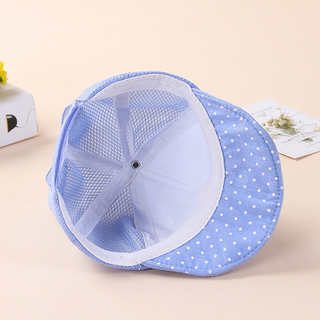 ideacherry Baby Caps Girl Boys Cap Summer Hats For Infant Sun Hat with Dot Ear Sunscreen Baby Girl Hat Spring Babies Accessories