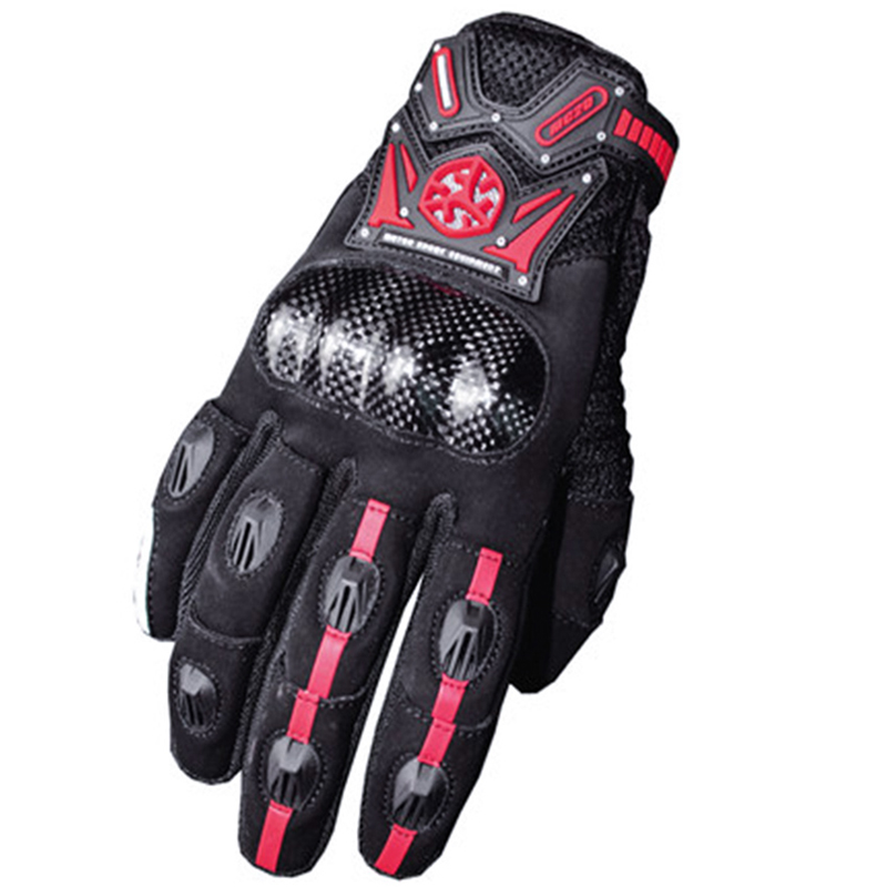 SCOYCO RED Motorcycle Full Finger Gloves Protective Gears Offroad Racing Motocross Dirt Bike Riding Skiing Scooter