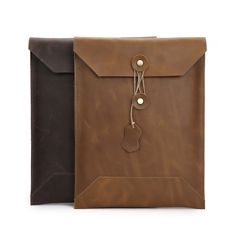 Cow Leather  Envelope Sleeve Bag Case for Macbook Air Pro Retina 11 12 13 15 hot pu leather sleeve case for macbook air 11 air 13 retina 13 3 inch pro 15 4 envelope bag wholesales free drop shipping