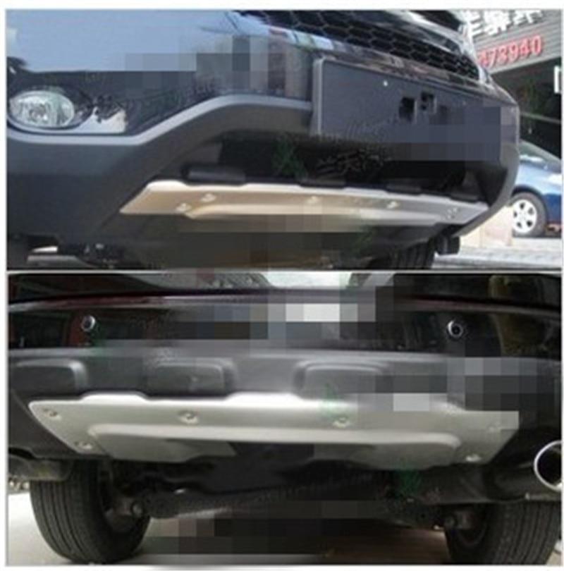 Car-covers Aluminum Alloy  Front+Rear Bumper Skid Protector Guard Plate For Honda CRV CR-V 2010 2011Car stylingCar-covers Aluminum Alloy  Front+Rear Bumper Skid Protector Guard Plate For Honda CRV CR-V 2010 2011Car styling