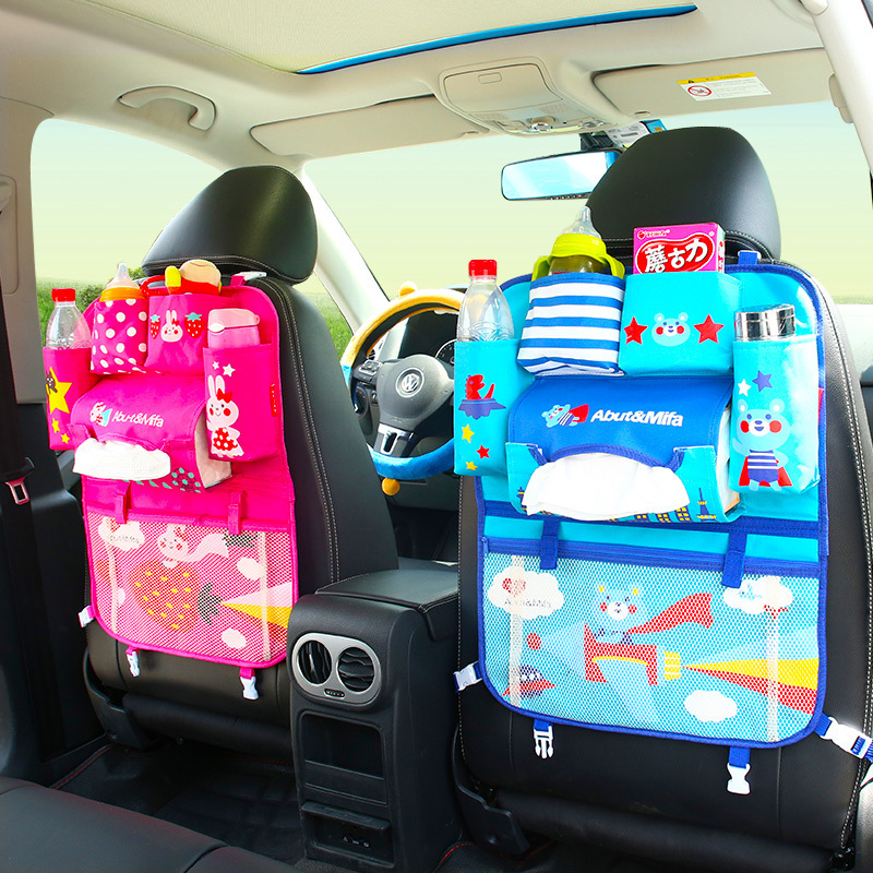 Multifunctional Waterproof Baby Car Seat Tray Stroller Bag Organizer Baby Car Hanging Basket Storage Back Seat Food Tray Table