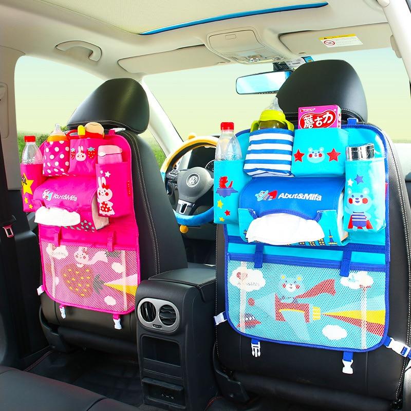 Multifunctional Waterproof Baby Car Seat Tray Stroller Bag Organizer Baby Car Hanging Basket Storage Back Seat Food Tray Table
