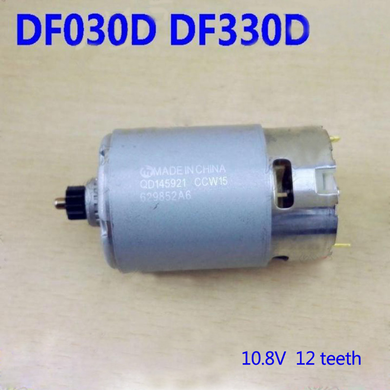 Replacement 10.8V 12Teeth DC Motor For Makita Electric hammer DF330DWE DF030DWE. High-quality! replacement 12v 14teeth dc motor for makita electric hammer 6270dwe 6271d high quality