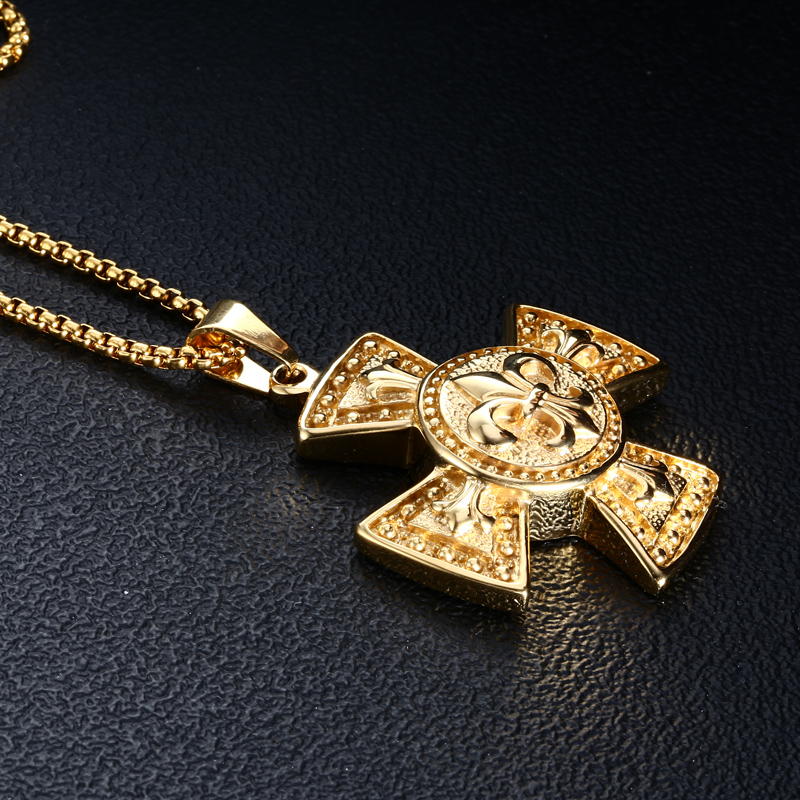 High quality maltese cross signet pendant necklace men cross high quality maltese cross signet pendant necklace men cross necklaces unique gold maltese cross pendants biker signet charm in pendants from jewelry mozeypictures Choice Image