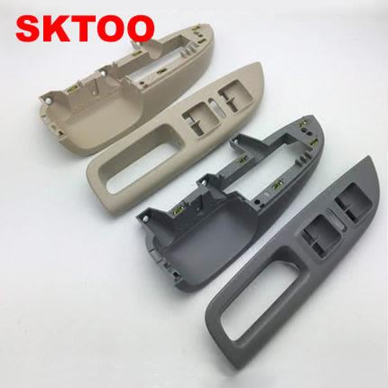 SKTOO For 2007 2014 Skoda Octavia door handle inside the front handle bracket lifter switch box