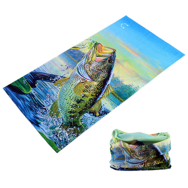 BR001-032 2018 wholesale Newest 100% Polyester Microfiber Fishing Bandana Seamless Tubular Bike Neck Tube Scarf  Headband